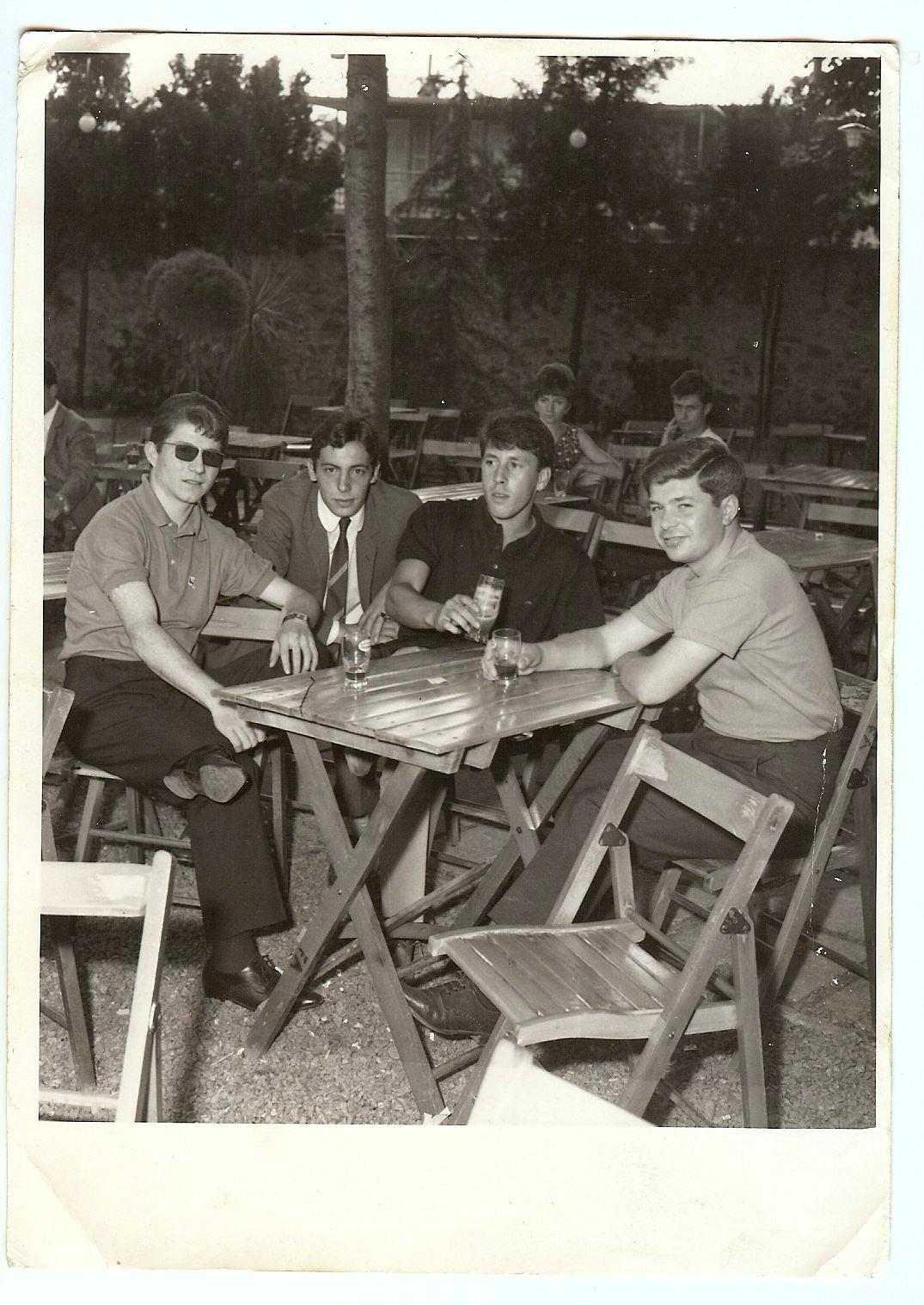 Gilberto with friends in Andorno