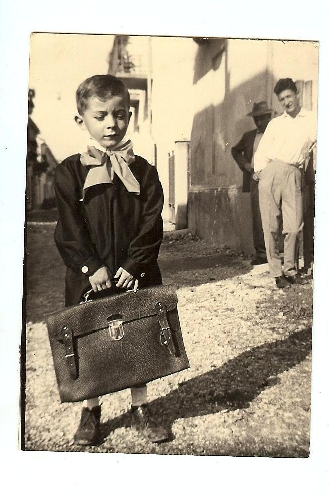 Francesco Gonella as a schoolboy
